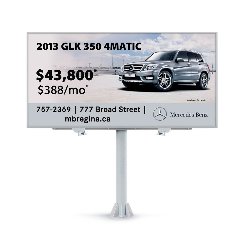 Billboard-Design-Mercedes-Benz-Regina-GLK
