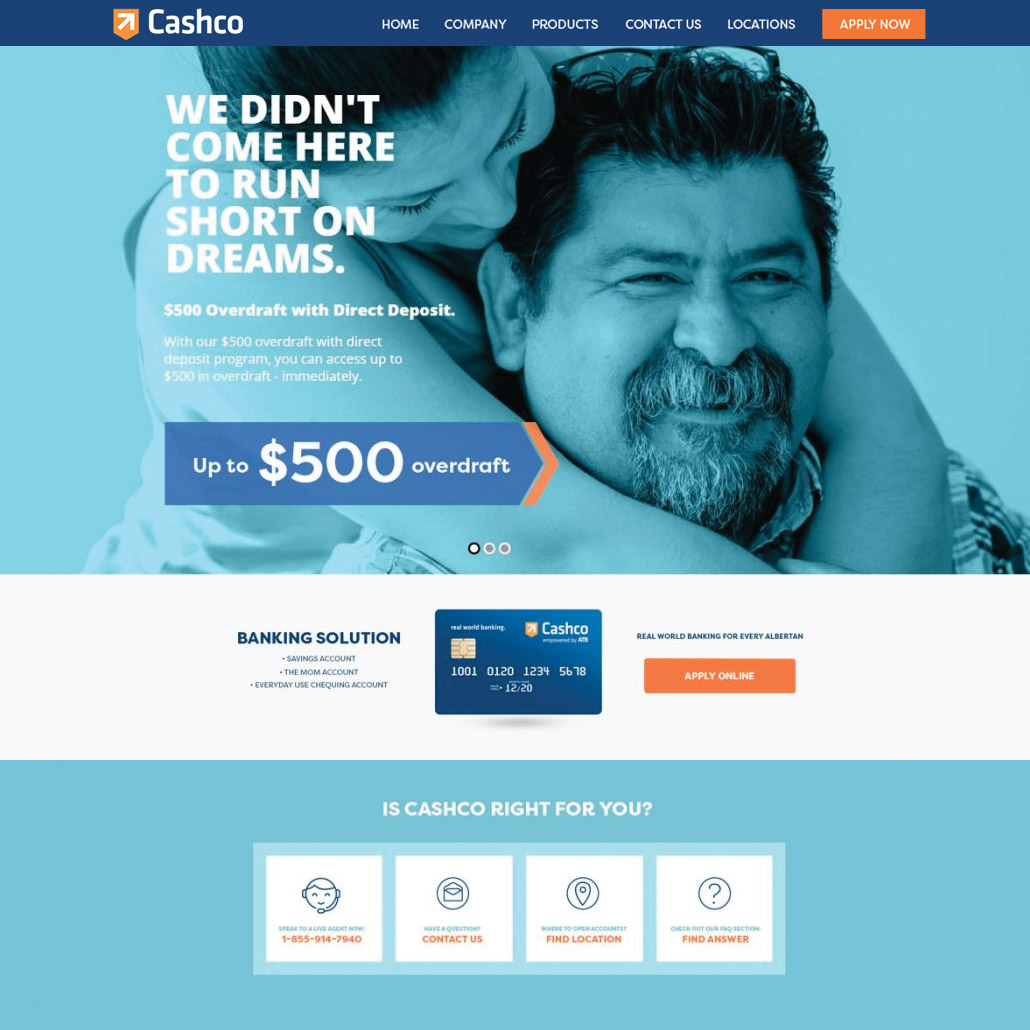 Cashco Financial - Webdesign in Edmonton