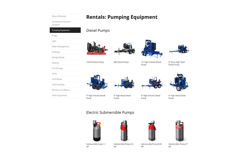 ketek-website-design-equipment-page