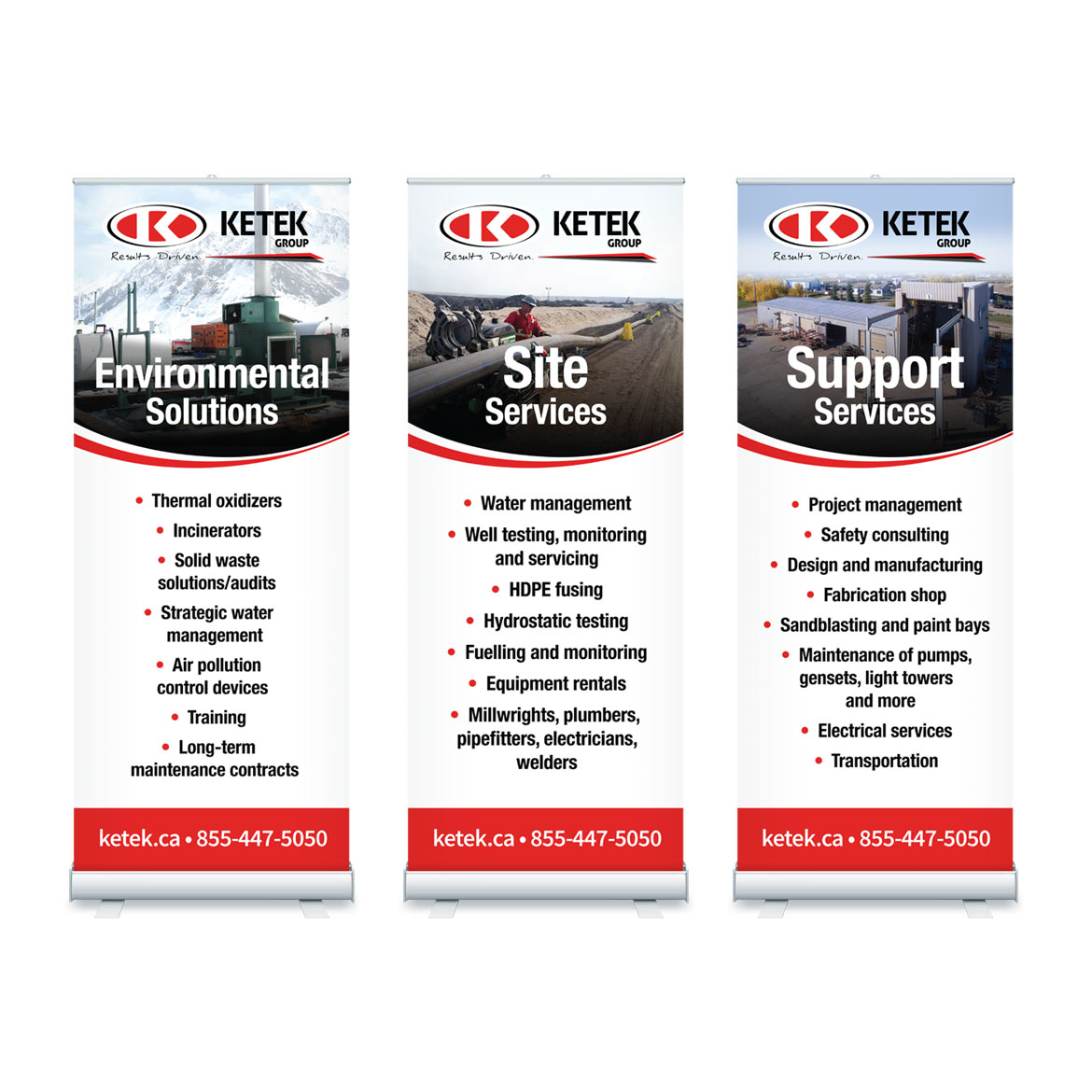 Pull Up Banner Stands Design - Edmonton - Ketek Group