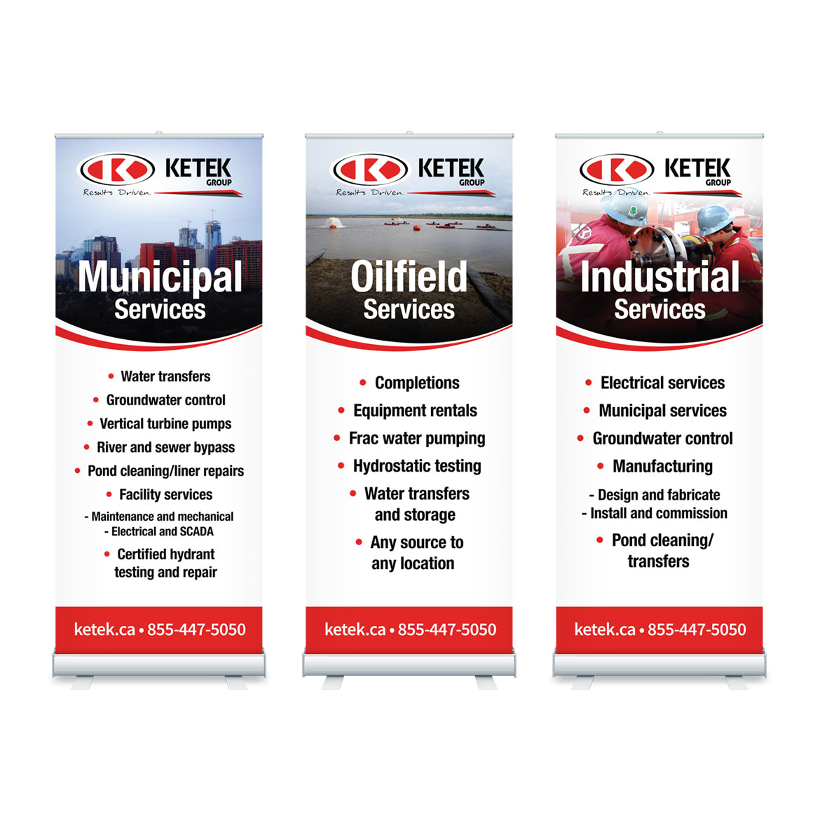 Pull Up Banner Stands Design - Edmonton - Ketek Services