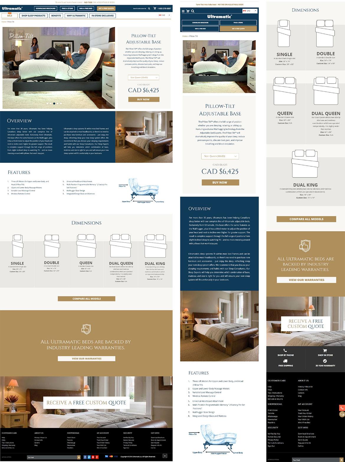 Webdesign - Landing Page - Pillow Tilt - Ultramatic