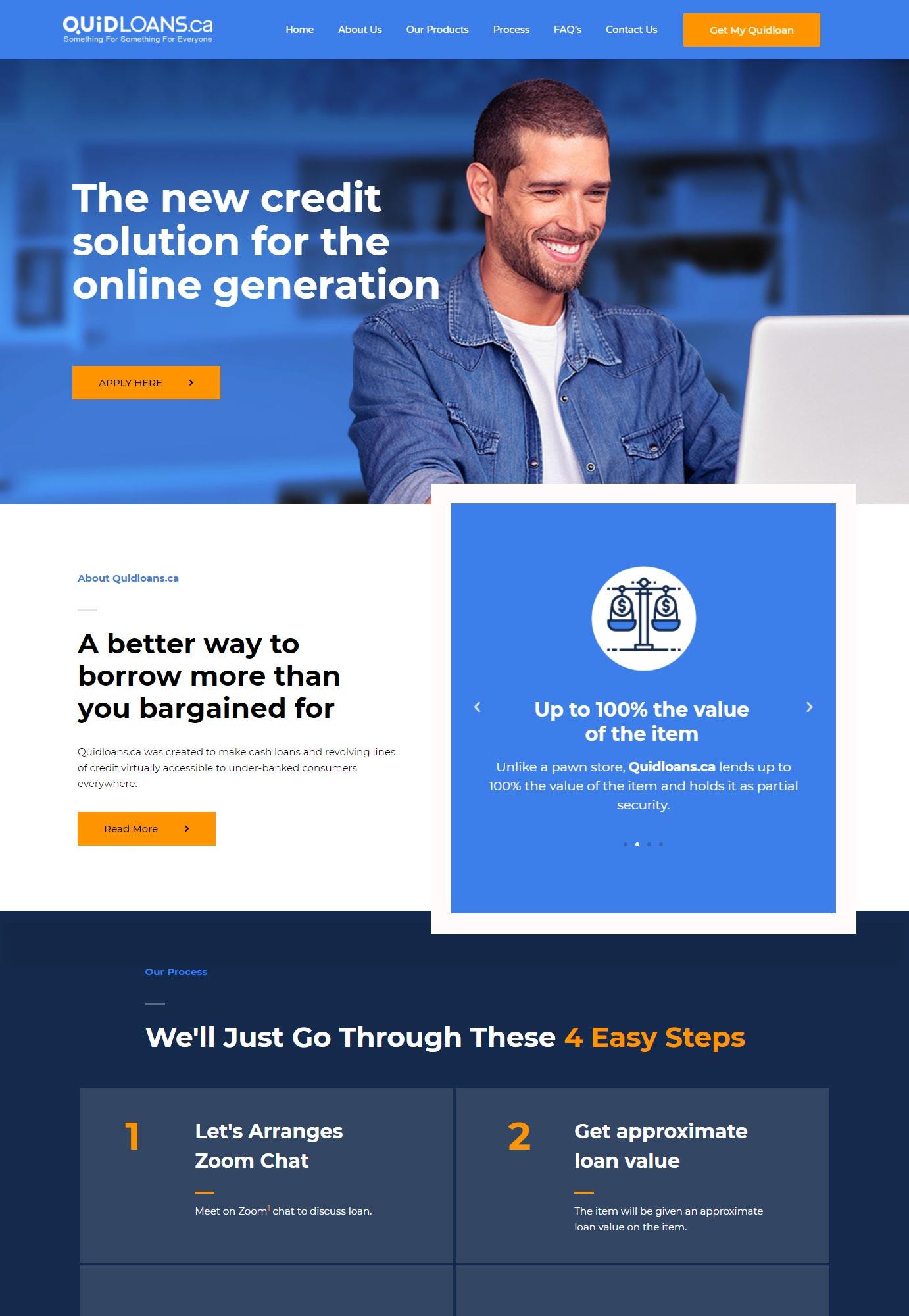 DominantArt - Website - Design - Quidloans - Edmonton