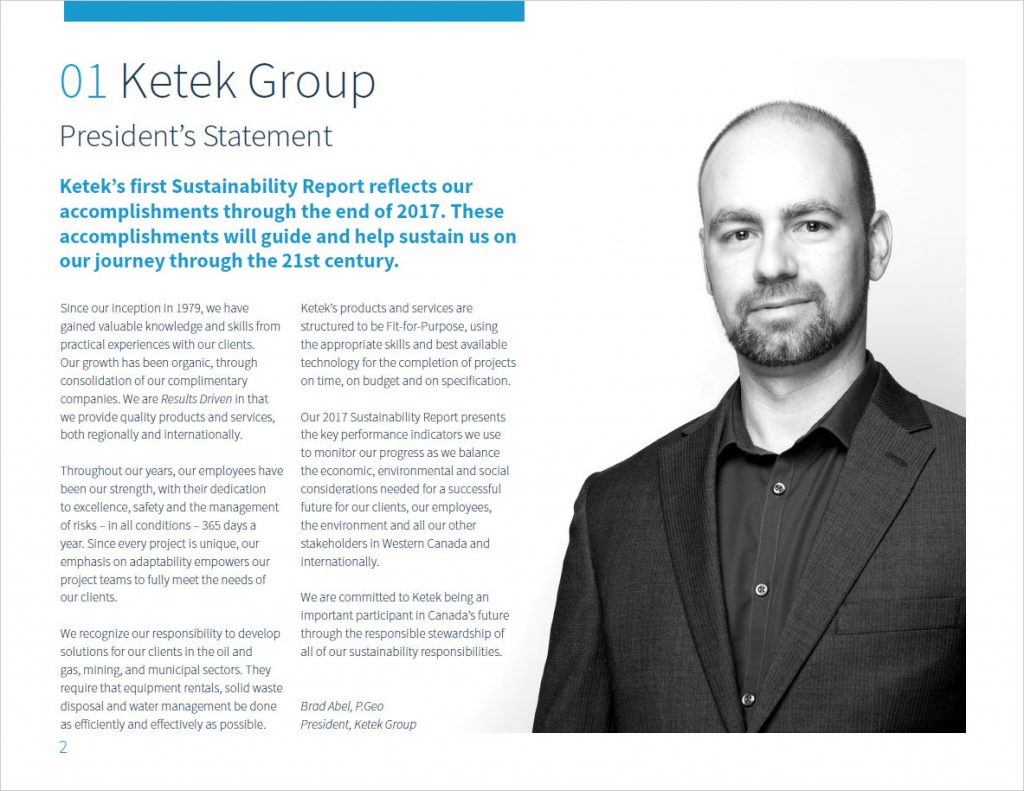 Ketek Group - Sustainability report design